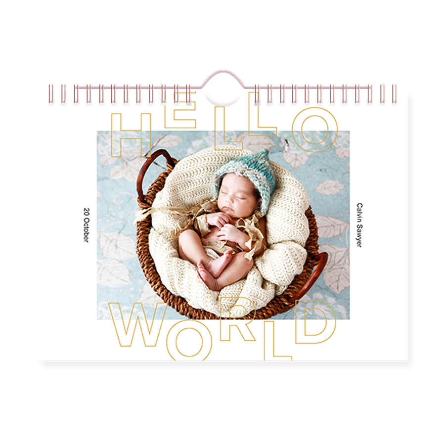 Baby Stencil Premium Wall Calendars