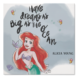 Disney Princess Dream Big As The Ocean Joy Canvas Prints Personalized Canvas Online Photobook Malaysia