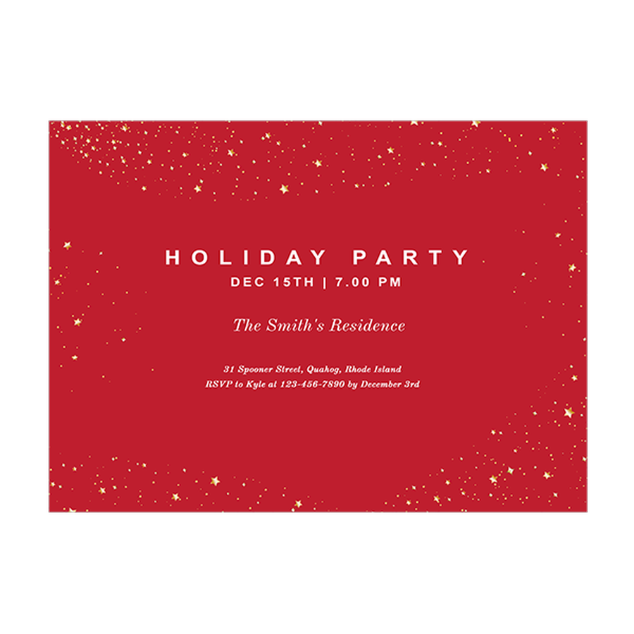 Holiday Cards Online >> Golden Stars